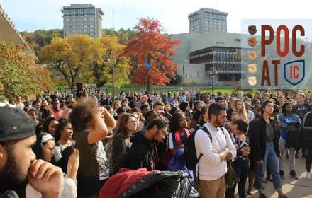 "Photo from People of Color at Ithaca College's ""Solidarity Walk Out"" Facebook event."