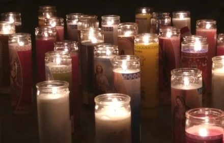 People around the country held remembrances, prayers, and candlelight vigils in mourning for the 49 lives lost in Sunday's domestic terrorist attack in Orlanda. These candles were it by students at Virginia Commonwealth University. PHOTO: Paulette Singleton/Trice Edney News Wire