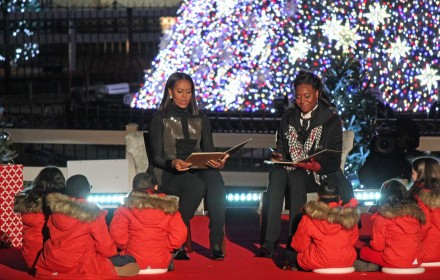 President Barack Obama and family last Christmas Tree Lighting Ceremony; National Christmas Tree Lighting 2016