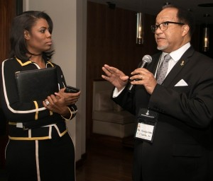 NNPA President Ben Chavis discusses prospective interview with Manigault during heated exchange. PHOTO: Shevry Lassiter