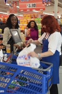 Shoppers Ocesa Keaton and Ruthnie Angrand