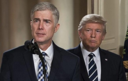 Judge Neil Gorsuch and President Donald Trump