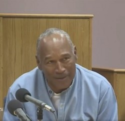 O.J. Simpson upon learning he has been granted parole. Photo: Twitter