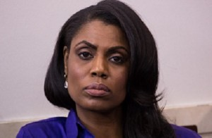 WASHINGTON, D.C. — On Tuesday, January 24, on day two of the Trump Administration, Omarosa, assistant to President Trump and director of communications for the Office of Public Liaison, listens as Sean Spicer, White House Press Secretary, holds a briefing in the James S. Brady Press Briefing Room in the West Wing of the White House.   ©2017 Photo by Cheriss May, www.cherissmay.com