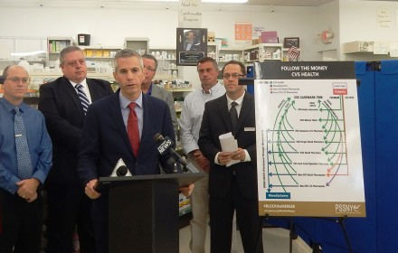 Assemblyman Anthony Brindisi held a press conference September 18, 2018 at Parkway Drugs in N. Utica