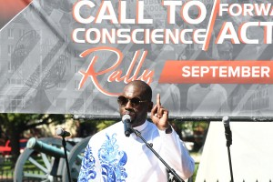 Pastor Jamal-Harrison Bryant of Baltimore's Empowerment Temple. PHOTO: Roy Lewis/Trice Edney News Wire